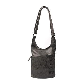 02c7f5a37c9a6 CASAdiNOVA - Umhängetasche Damen Schwarz Groß - Crossbody Bag - PU Leder  Schultertasche - Messenger Handtasche