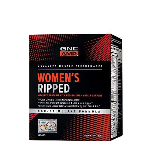 GNC AMP Womens Ripped Vitapak Program - Non Stim, 30 Packs