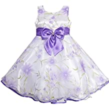 Sunny Fashion 3 Layers Girls Dress Diamond Bow Tie Purple Girl