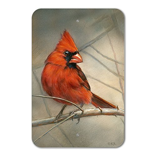 Graphics and More Cardinal Red Bird on Tree Branch Home Business Office Sign - Plastic - 18