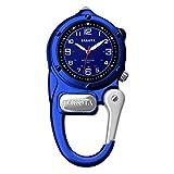 Dakota Clip Watch With LED Flashlight, Mini Clip Microlight Watch, Blue