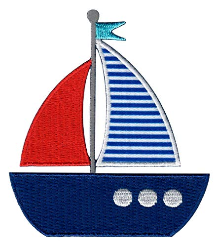 PatchMommy Iron On Patch, Sailboat - Appliques for Kids Children