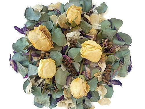 Potpourri Gift - Eucalyptus and rose potpourri for your home/office decor, housewarming, mother's day gift, with refresher scent vial