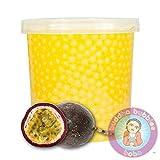 Popping Passion Fruit Boba 42 Ounces/12+ Drinks Buddha Bubbles Boba Bite & Burst