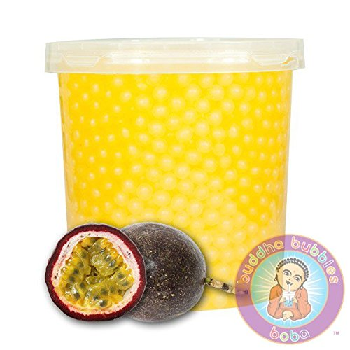 Popping Passion Fruit Boba 42 Ounces/12+ Drinks Buddha Bubbles Boba Bite & Burst by Sunwave (Image #4)