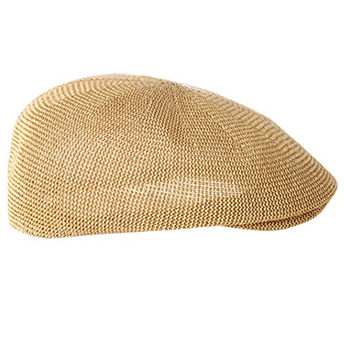 New Golf Vented Panama Straw Hat Dress Cap Summer Sun Mesh Hat Khaki