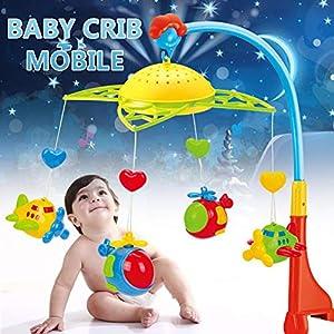 Baby Mobile Music Mobile Music Box pour bébé de Birth Cot Mobile avec Lampe de Plafond, projecteur, siège Auto et Poussette (0 Mois et Plus) 61