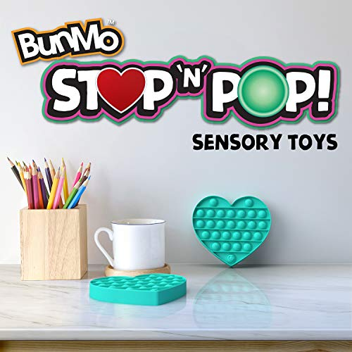 Bunmo Pop it Fidget Toys - Heart Stress Toy and Game