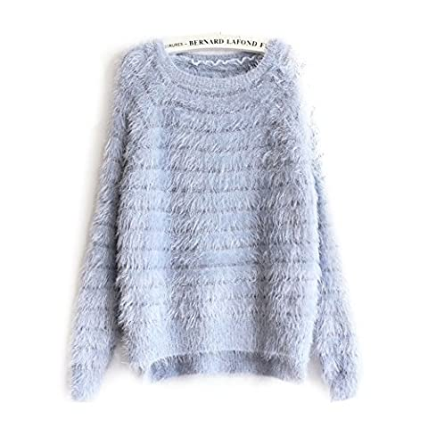 Newfeeling Womens 20 Candy Colors Mohair Sweatershirt Jumper