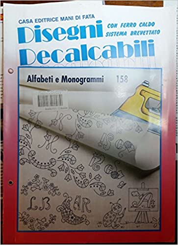 Disegni Decalcabili Per Lenzuolini.Amazon It Disegni Decalcabili 247 Speciale Corredini E Non Solo