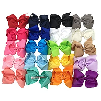 XIMA 20pcs 5inch Big Hair Bows With Alligator Clips For Girls and Women bows Clips