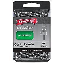 Arrow Fastener RMA1/8IP Medium Aluminum 1/8-Inch Rivets, 100-Pack