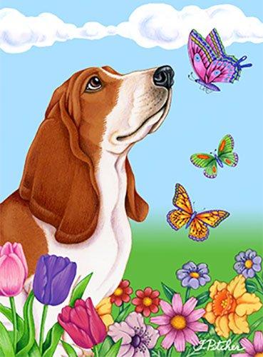 Best of Breed Basset Hound Butterfly Garden -