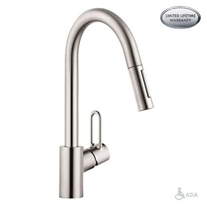 Hansgrohe 04701805 Talis Loop Kitchen Faucet, steel Optic