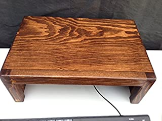 product image for Oak Design Corporation Computer Monitor Riser Solid Pine (Coffee)