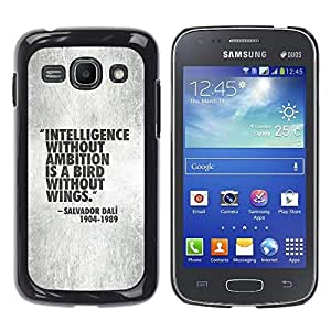 Planetar® ( Intelligence Quote Motivational Work ) Samsung Galaxy Ace 3 III / GT-S7270 / GT-S7275 / GT-S7272 Fundas Cover Cubre Hard Case Cover