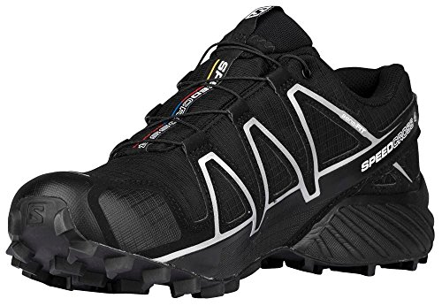 Chaussures black Salomon Gtx Black 4 Speedcross x Trail Metallic Homme De silver q8r8t7wx