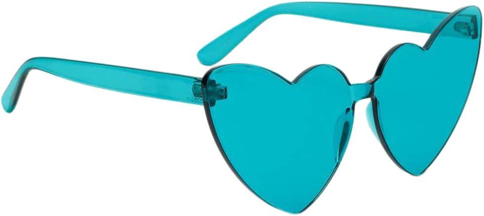 Herzform Sonnenbrille Gläser mit Dünner /& leichter Kunststoff Rahmen