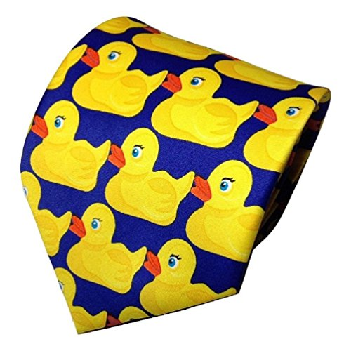 TrendyLuz Rubber Duck Necktie Barney Ducky Tie