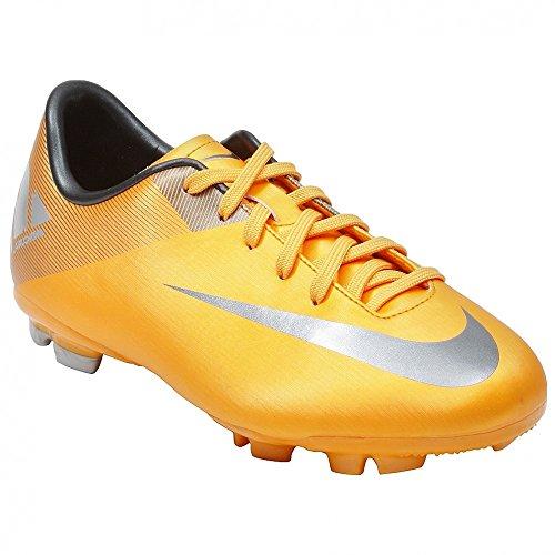 Estilo Nike Jr Mercurial Victory II: 44200 00 Deporte Entrenador Zapatos Anaranjado/plateado