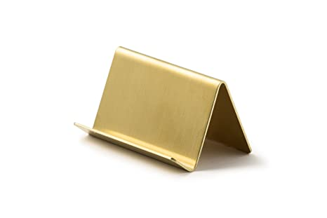 Amazon modern brass business card holder office products modern brass business card holder reheart Gallery