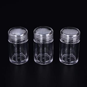 b62da3d02f8f Amazon.com : ConStore 6 Pack Loose Powder Jars Round Clear Eyeshow ...