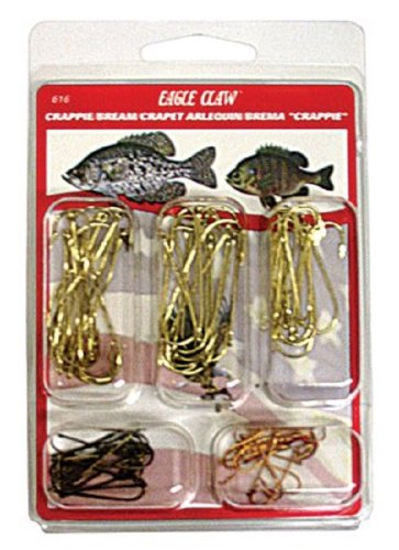 Eagle Claw Crappie/Bream Assortment Hook, 80 Piece
