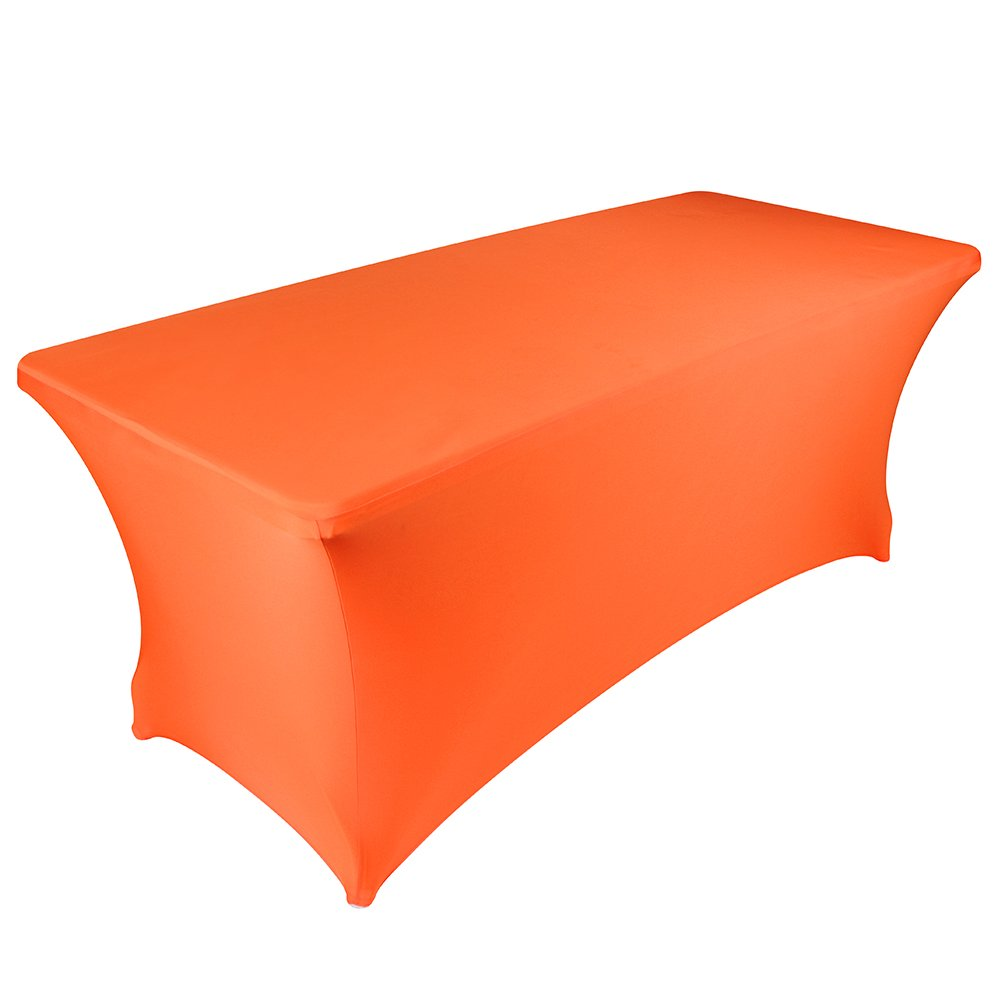 BanquetBay 6FT Stretch Tablecloth -Orange