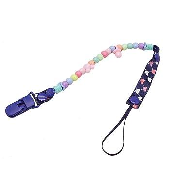 Amazon.com: Clips de cuerda para chupete de bebé, estilo ...