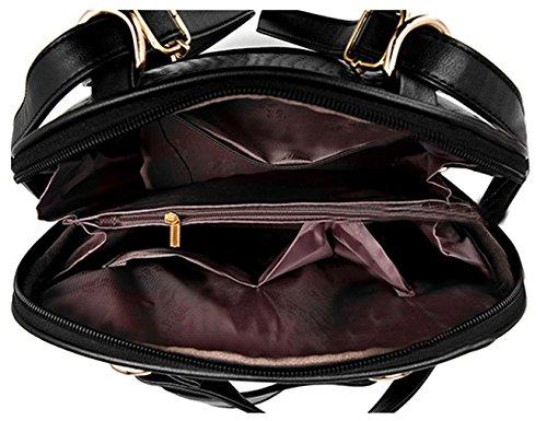 Tibes Bolsa Mujer Mini mochila impermeable Mochila de cuero Mochila de estudiante Rosado