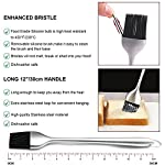 Kaycrown Stainless Steel Turkey Baster With BBQ/Grill Basting Brush, Commercial Grade Quality FDA Rubber Bulb Including Flavor Needle And Cleaning Brush For Easy Clean Up 13 FOOD SAFETY MATERIAL: Both of the Turkey baster and basting brush are made of food grade stainless steel, it won't melt, won't bend, and will last for many years to come. Bristles are made of FDA & BPA-FREE Silicone ( high heat resistant to 450°F/230°C ). BASTING BRUSH: Included an extra long basting brush, to get those juices into every crack and crevice of your succulent roast meats, for a more even distribution of flavor. The bristles will not melt, break or shed into your food! Picking bristles from your food will be a thing of the past! Stainless steel injector needle and cleaning brush included, Add more punch to your meat creations with our flavor injector. Simply screw onto the baster to transform it into a super handy marinade and sauce injector. Add an explosion of flavor to every bite!
