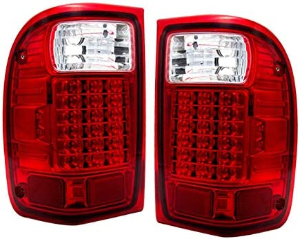 amazon com fit 2001 2011 ford ranger led tail lights chrome housing red lens automotive amazon com