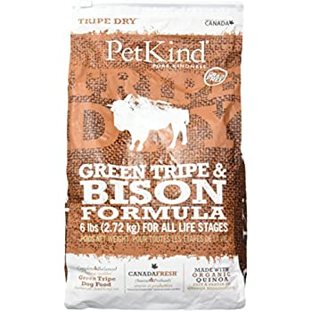 Amazon Com Petkind Green Tripe Bison Dry Dog Food 6 Lb Pet Supplies