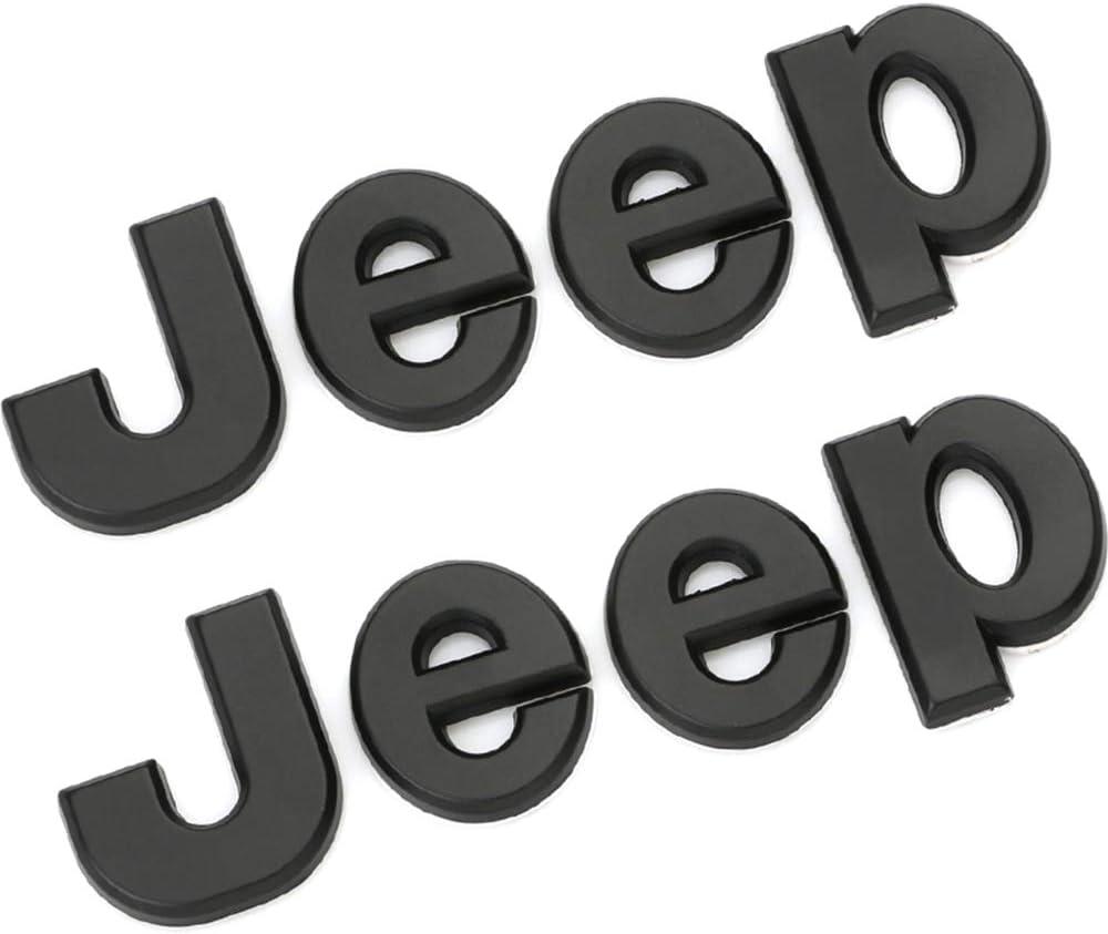 XCBW Adesivo Emblema Logo Anteriore Auto per J-eep Wrangler Tj JK JL Grand Cherokee Commander Renegade Liberty Compass Rimontare Gli Accessori,doro