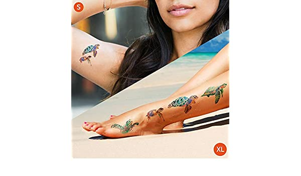 Tortuga marina acuarela - Tatuajes temporales: Amazon.es: Handmade