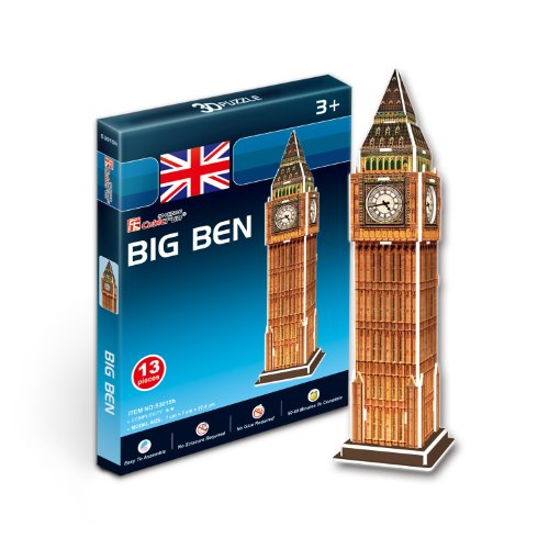S3015h Cubic Fun 3d Puzzle Model London Big Ben (13pcs) Big Ben Clock Bell