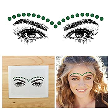Beauty & Health Cooperative Temporary Face Stickers Tattoo Easy To Operate Crystal Face Gems Rhinestone Diy Face Jewels Stickers Party Body Glitter Stick Body