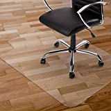 "Kuyal Chair Mat, 2MM Rolling Chair Mat for Hardwood Floor, Transparent PVC Home Office Floor Protector Mat (36"" X 48"" with Lip)"