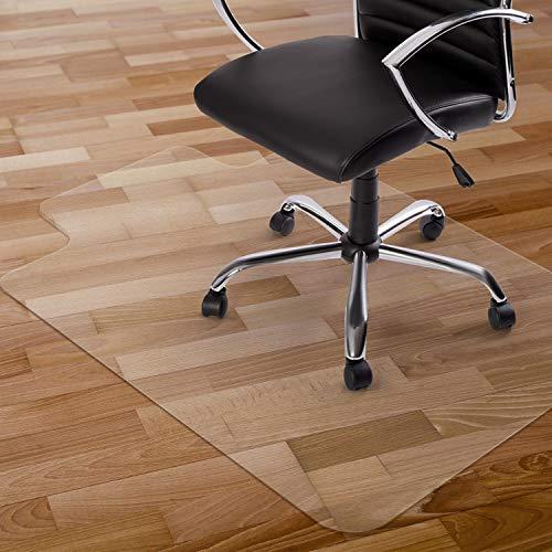 Kuyal Chair Mat, 2MM Rolling Chair Mat for Hardwood Floor, Transparent PVC Home Office Floor Protector Mat (36