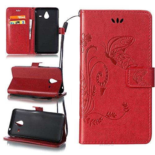ZeWoo Funda de PU Piel - LD108 / Rojo - para Microsoft Lumia 640 XL / Lumia 640 XL Dual-SIM (5,7 pulgadas) carcasas y fundas