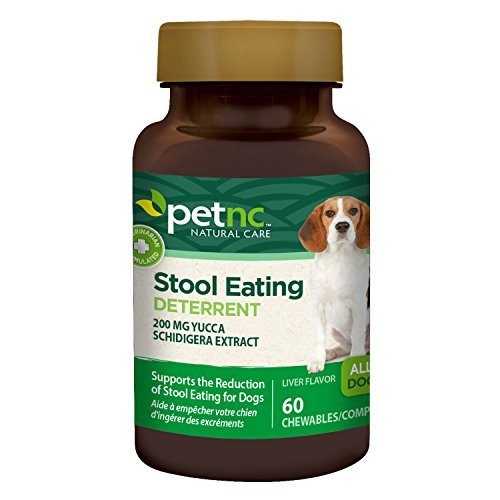 PetNC Natural Care Stool Eating Deterrent Chewables for Dogs, 60 Count (Best Way To Stop Dog From Eating Poop)