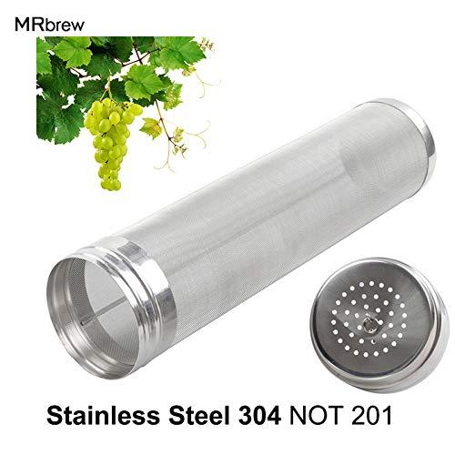 Casavidas Filtro de tolva seca de barril de acero inoxidable de 300 micrones con la esperanza de que el hogar produzca 30 cm...
