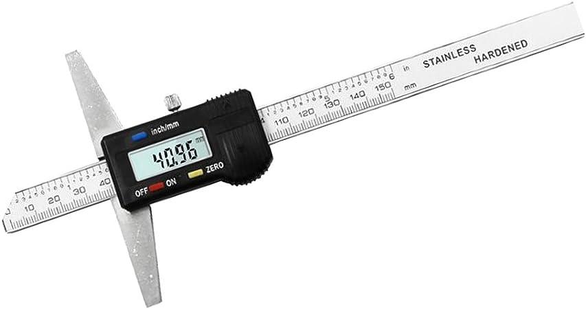 lonelymen 150//200 300mm LCD-Anzeige Digital Messschieber Nonius Mikrometer Edelstahl Elektronische metrische Umrechnung Pr/äzisionsmesswerkzeug,150mm