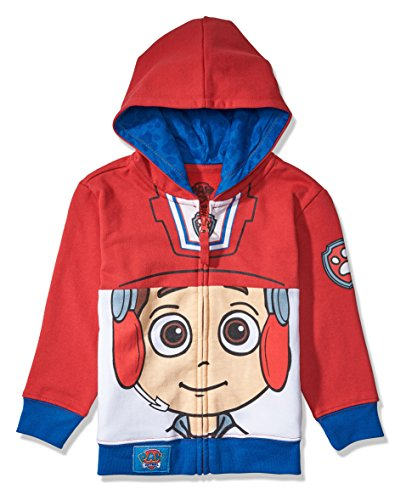 Nickelodeon Toddler Paw Patrol Character Big Face Costume Zip-up Hoodies (5T, Ryder)