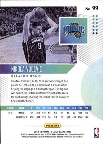 Amazon.com: 2018-19 Panini Status #99 Nikola Vucevic NM-MT Orlando Magic Officially Licensed NBA Basketball Trading Card: Collectibles & Fine Art