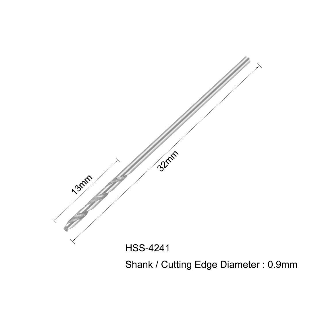 uxcell 4.3mm Twist Drill High Speed Steel Bit HSS-4241 for Steel,Aluminum Alloy 10pcs