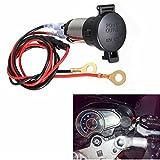 SOLOOP Waterproof 12V 120W Car Motorcycle Cigarette Lighter Power Plug Socket