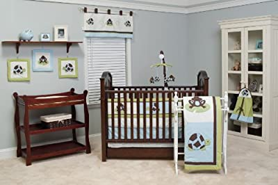 Pam Grace Creations 10 Piece Crib Bedding Set Mr Mrs Pond by Pam Grace Creations