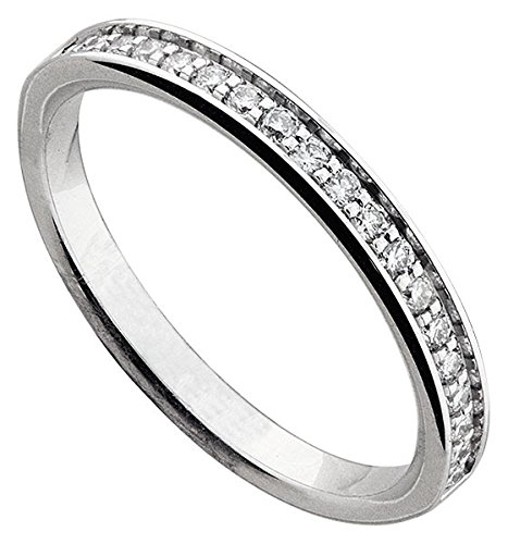 Orleo - REF11994 : Alliance Femme Or 18K blanc et Diamant
