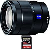 Sony 16-70mm f/4 Mid-Range Zoom E-Mount Lens (SEL1670Z) with Sandisk Extreme PRO SDXC 128GB UHS-1 Memory Card